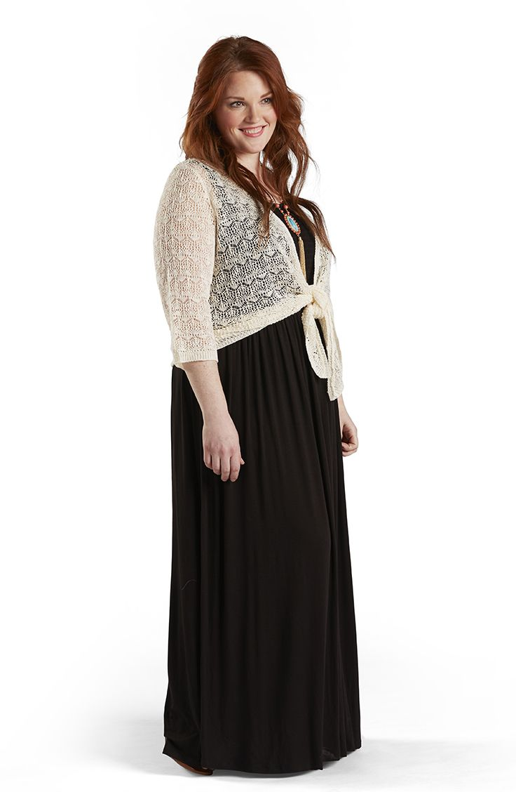 Your Crochet Style Shrug Adds Warmth To A Maxi Dress Meijerstyle