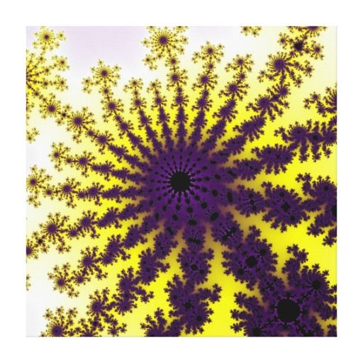 Customizable Lemon Purple Fractal Burst Stretched Canvas on sale for $127.00 at www.zazzle.com/wonderart* or click on the picture to take you directly to the product.