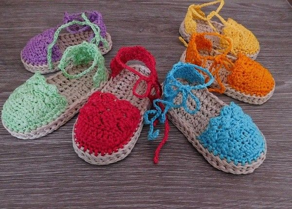 This Listing Is A Crochet Pattern For Baby Espadrille Sandals N104