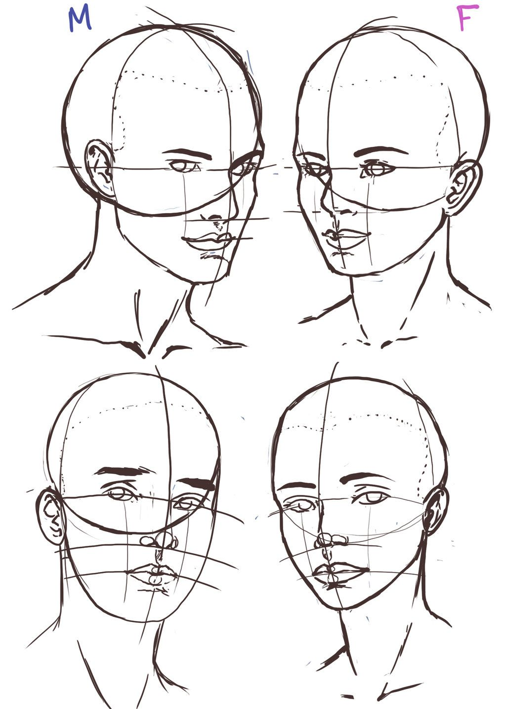 Face References By Rachelluhn On Deviantart Face Drawing Reference Face Drawing Drawing Tutorial Face