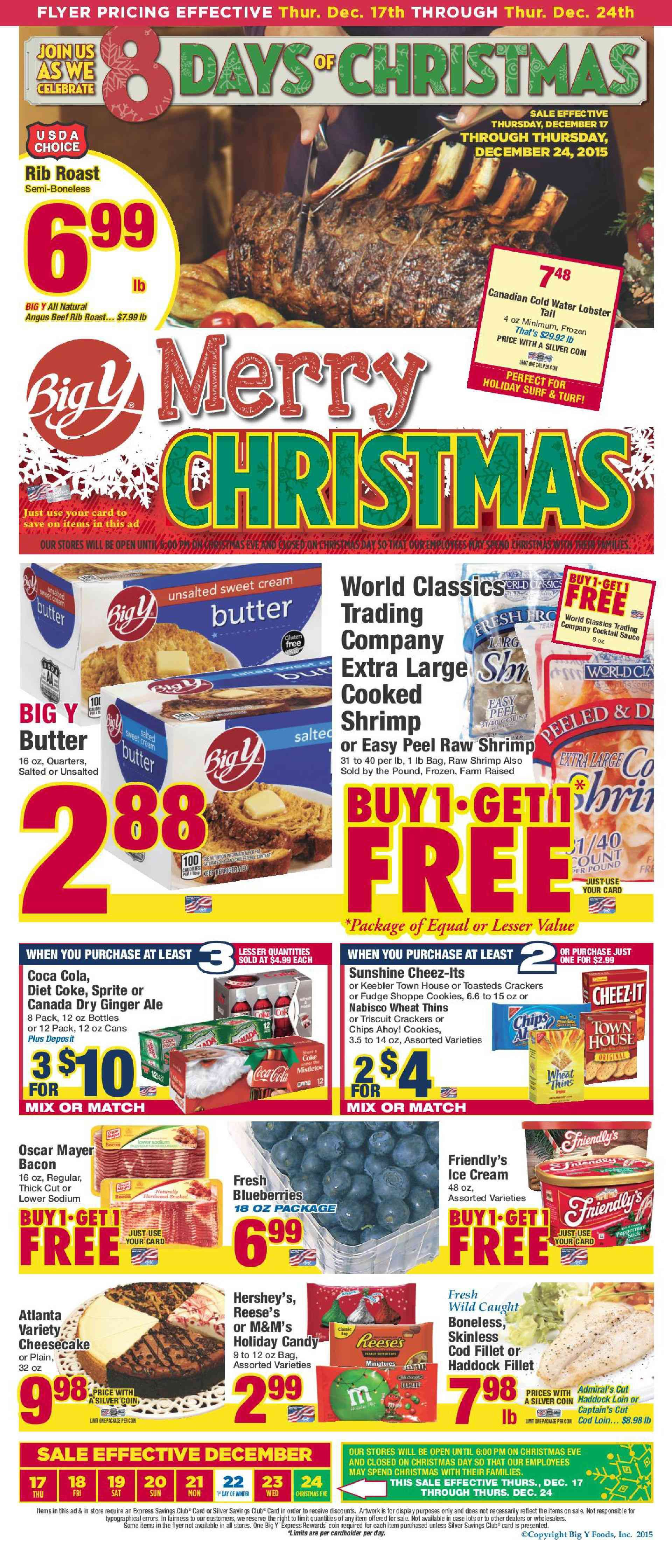 Big y circular december 10 16 2015 weekly ads and