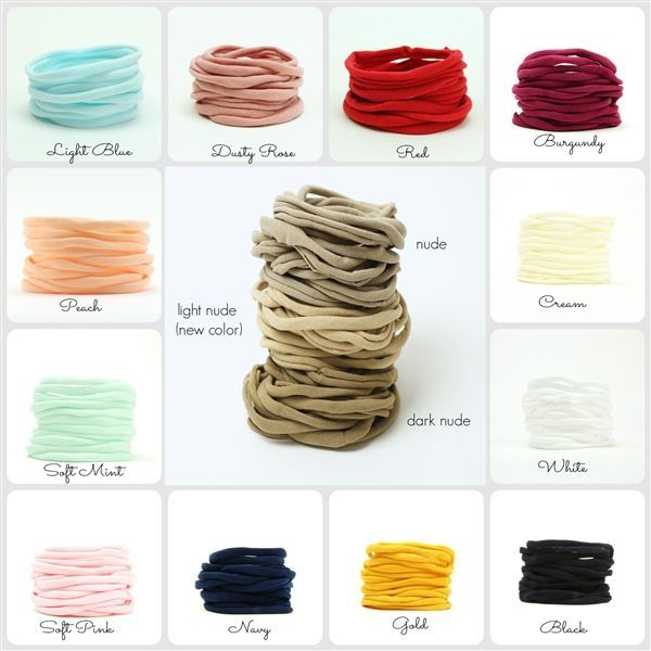 Skinny, Non-Marking Soft Nylon Headbands for Babies & Adults   #adults #babies #Headbands #NonMarking #Nylon #skinny #Soft