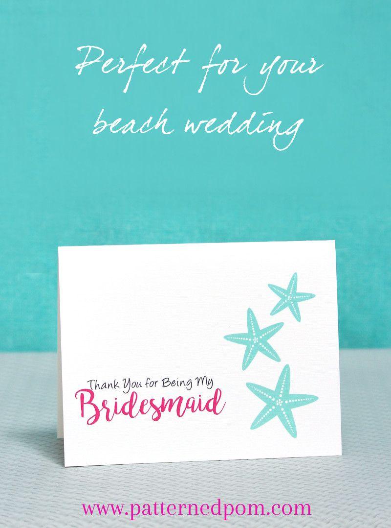 The Perfect Thank You Cards For Your Beach Wedding Www Patternedpom Beachwedding Weddings Starfish Handmade Thankyoucards