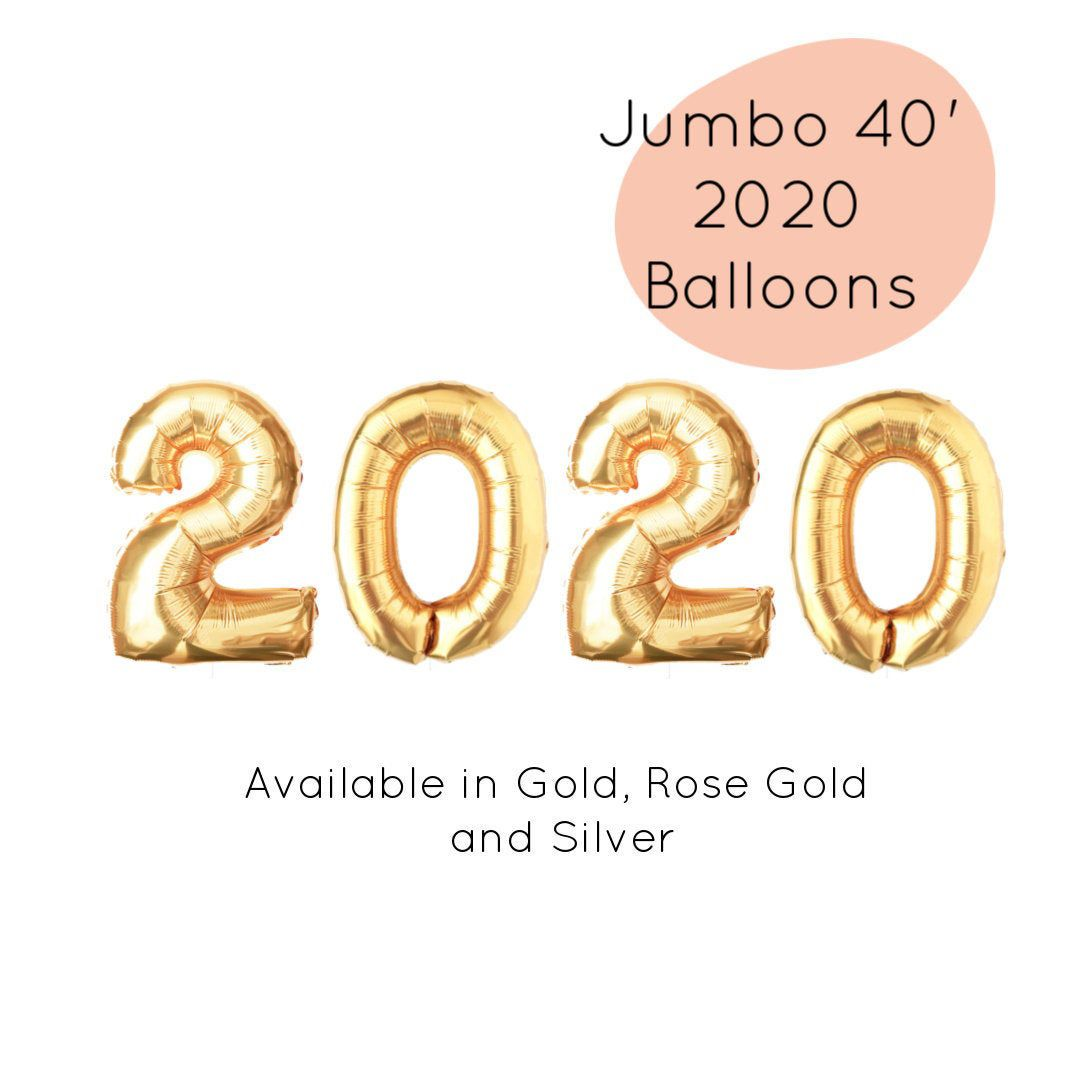 2020 Jumbo Balloon Kit New Years Eve Party and