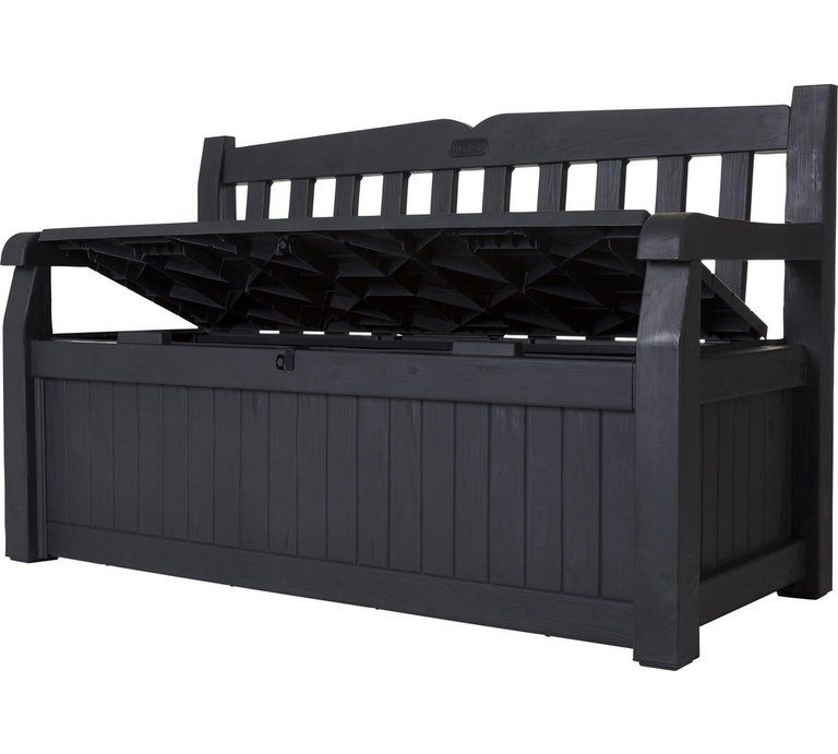 Buy Keter Eden Bench 265l Garden Storage Box Grey Garden