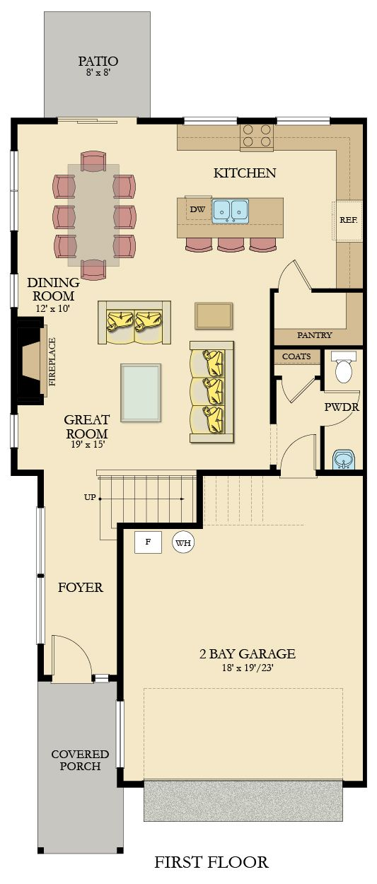 Designed For The Modern Buyer This Floorplan Boasts An Open Concept Layout On The Main Floor To Co Living Room Floor Plans Open Floor Plan Kitchen Floor Plans