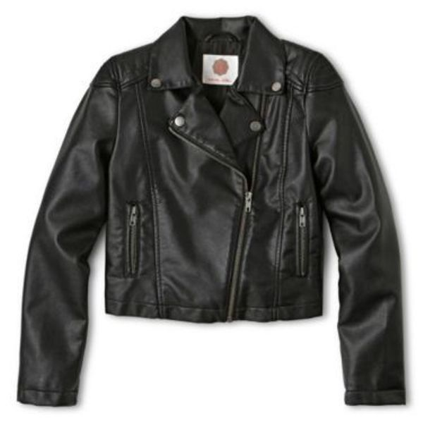 4d9f370ca27c NWT Girls Total Girl® Faux Leather Moto Jacket in Black - Size Large ...