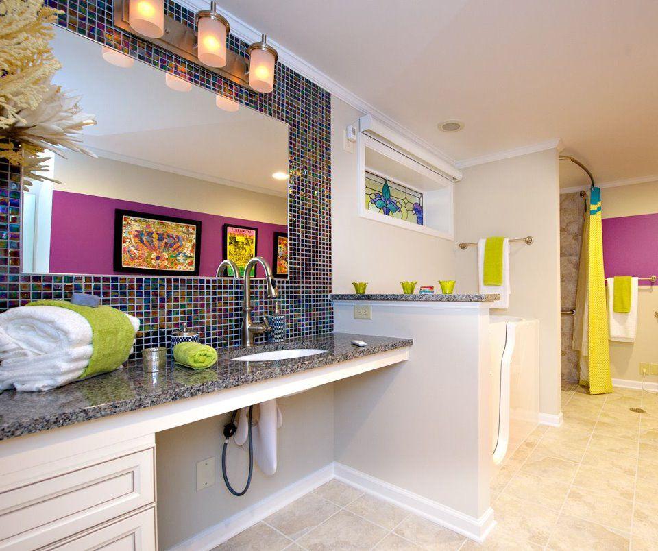 Aimee Copeland accessible bathroom, suburban Atlanta, GA