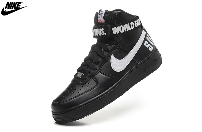 save off 6937d d8115 Mens Nike Air Force One High Supreme SP Shoes Black White ...