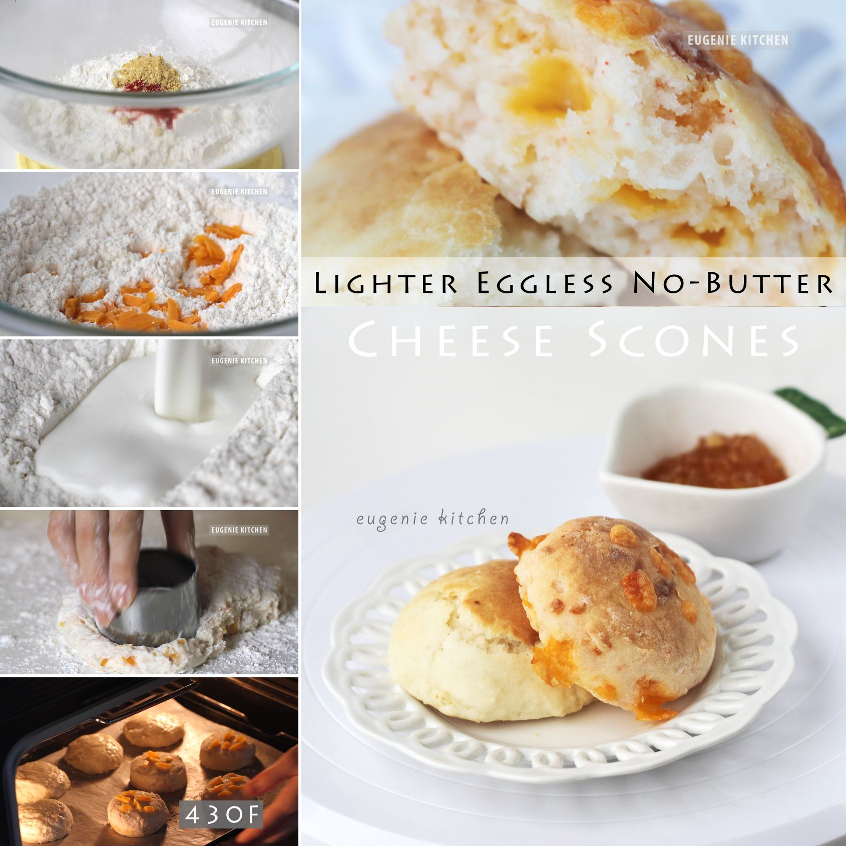 Easy Eggless Scones & Cheese Scones - No-Butter, Low-Calorie ...