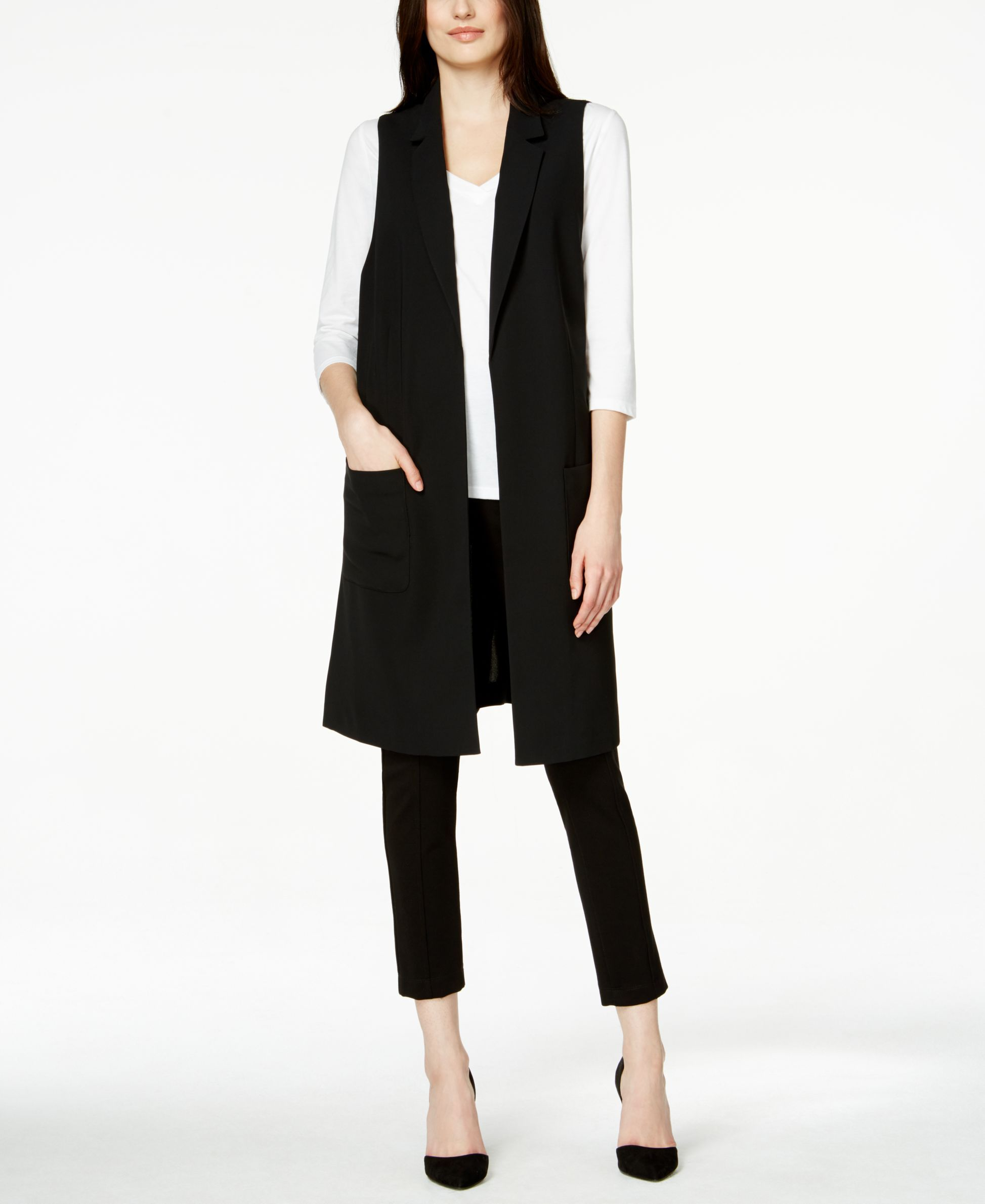 0127fe5e91521f Alfani Long Duster Vest, Only at Macy's | kcb style2 in 2019 ...