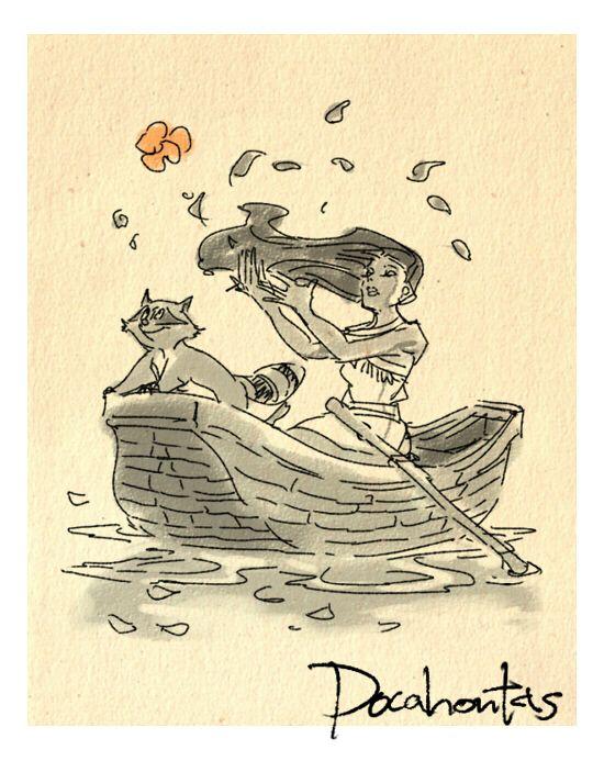 Disney Movie Sketches by Masuo- Pocahontas