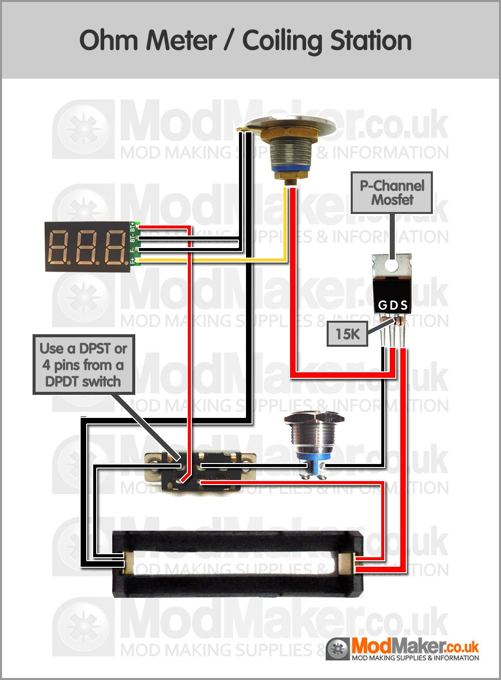 hight resolution of ohm meter coiling station wiring diagram vape in 2019 vape mods mod meter wiring diagram