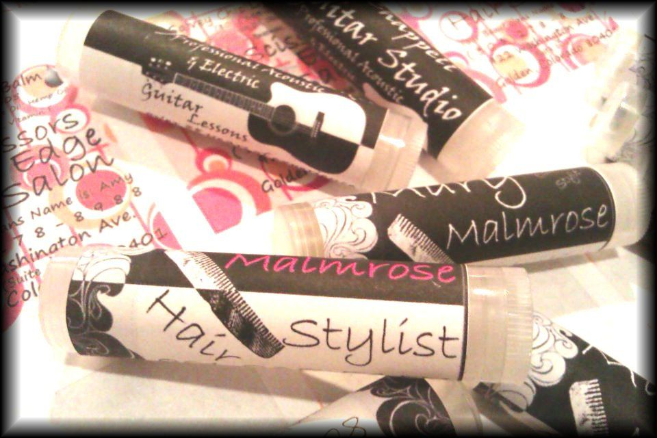 how to make lip gloss business cards
