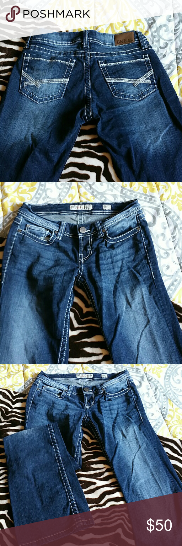 BKE Stella boot cut jeans. Stella boot cut, 27L. Only wore once. BKE Jeans Boot Cut