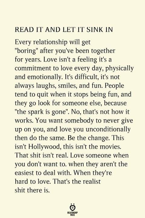 READ IT AND LET IT SINK IN Every Relationship