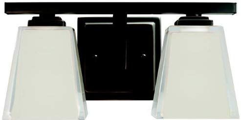 Photo of Kichler 5460OZ bathroom furniture wall lights, bronze 2-Light 13 W x 7 H 200 Watt