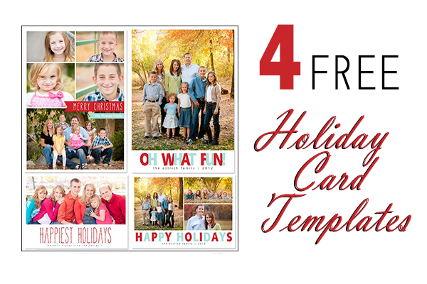 Free Holiday Card Templates from Mom and Camera