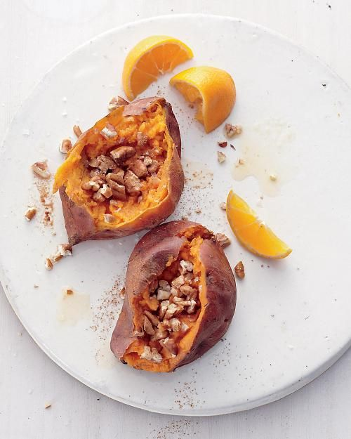baked sweet potatoes with citrus