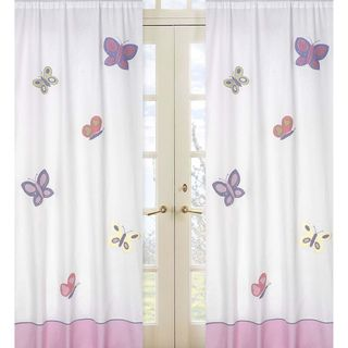 Pink and purple butterfly 84 inch curtain panel pair overstock pink and purple butterfly 84 inch curtain panel pair overstock shopping mightylinksfo