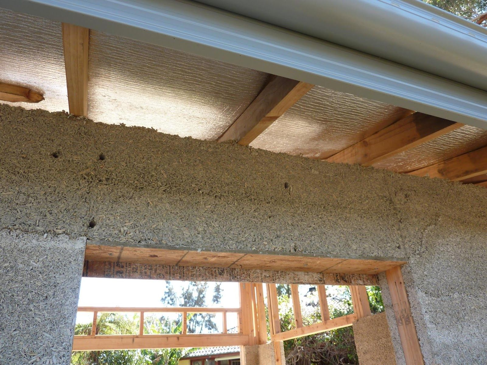 Culburra Hemp House Hemping Timber Lintels And Up To Ceiling Height Timber Ceiling Height Building A House
