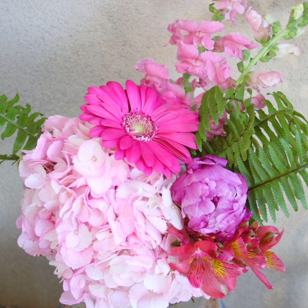 Graduation bouquet freytags florist peony arrangement