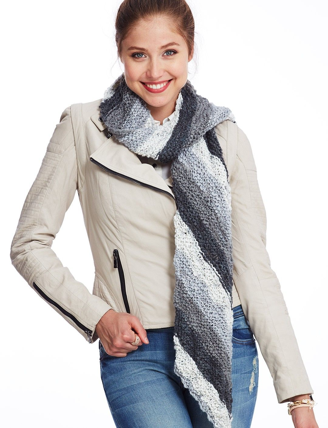 Yarnspirations.com - Bernat Easy Angles Scarf - Patterns ...