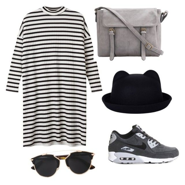 """""""Love day"""" by style-di-prz on Polyvore featuring moda, NIKE, Monki, Christian Dior, women's clothing, women, female, woman, misses y juniors"""