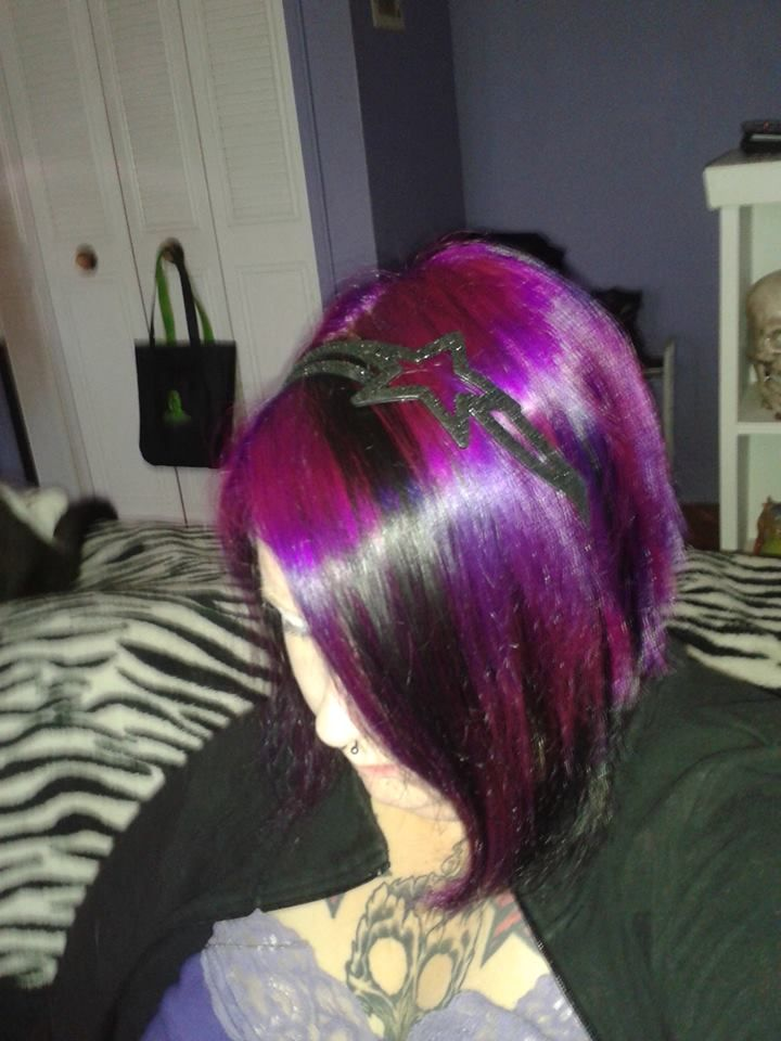pink purple dash awesome my friend tracey and her hair as seen on splat hair