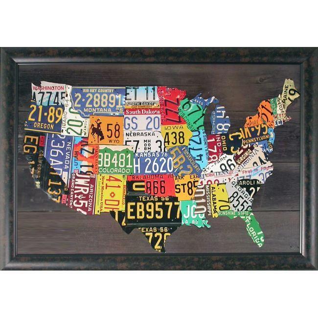 Framed Maps Of Us Wall Art Free Usa Maps - Framed us wall map