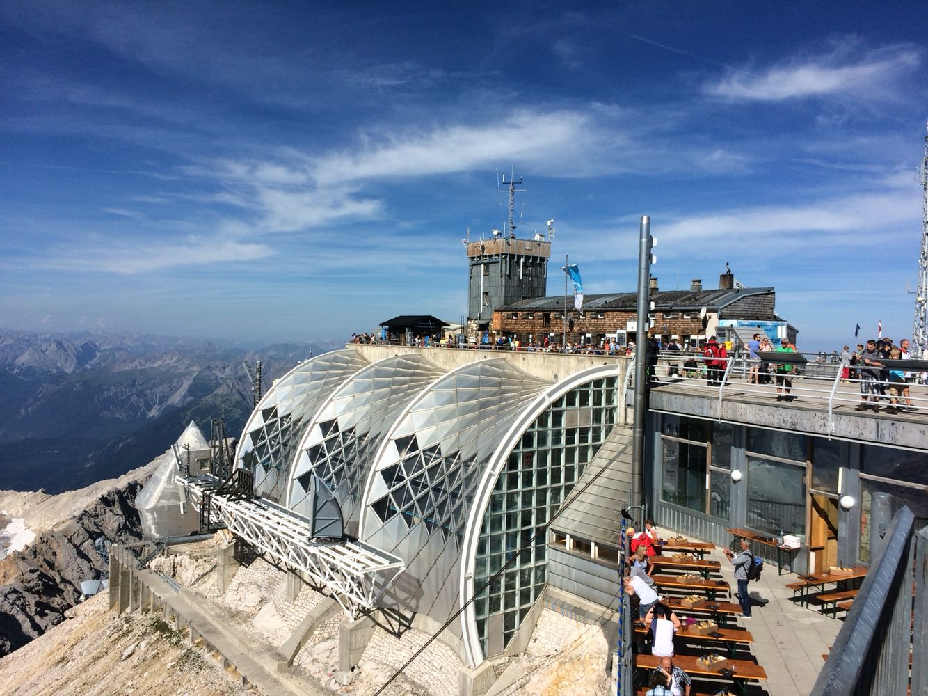 """Münchner Haus Zugspitze """"House Munich"""" at the top of"""