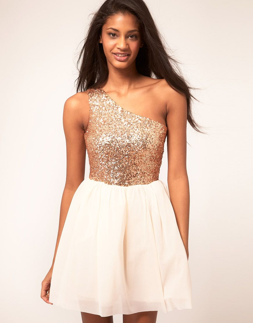 Asos skater dress with sequin top on style pinterest sequin