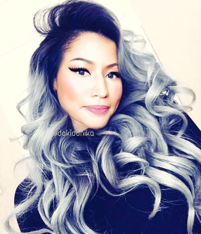 Nicki Minaj Black And Silver Hair Nicki Minaj Hairstyles Trendy