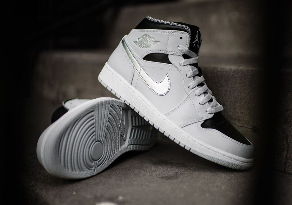 Air Jordan 1 Mid Wolf Grey 554724-032 | SneakerNews.com. Girl JordansWomens JordansJordans  SneakersRetro ...