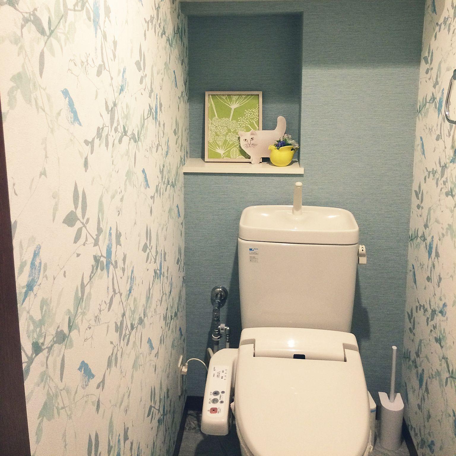 バス トイレ サンゲツ壁紙 北欧 ナチュラルのインテリア実例 17 07 15 21 53 05 Roomclip ルームクリップ サンゲツ 壁紙 トイレ 壁紙 サンゲツ