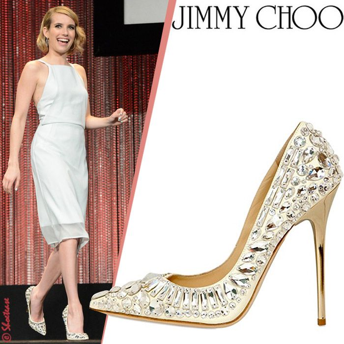 92b70a2e1712 Jimmy Choo shoes. Jimmy Choo shoes Emma Roberts ...