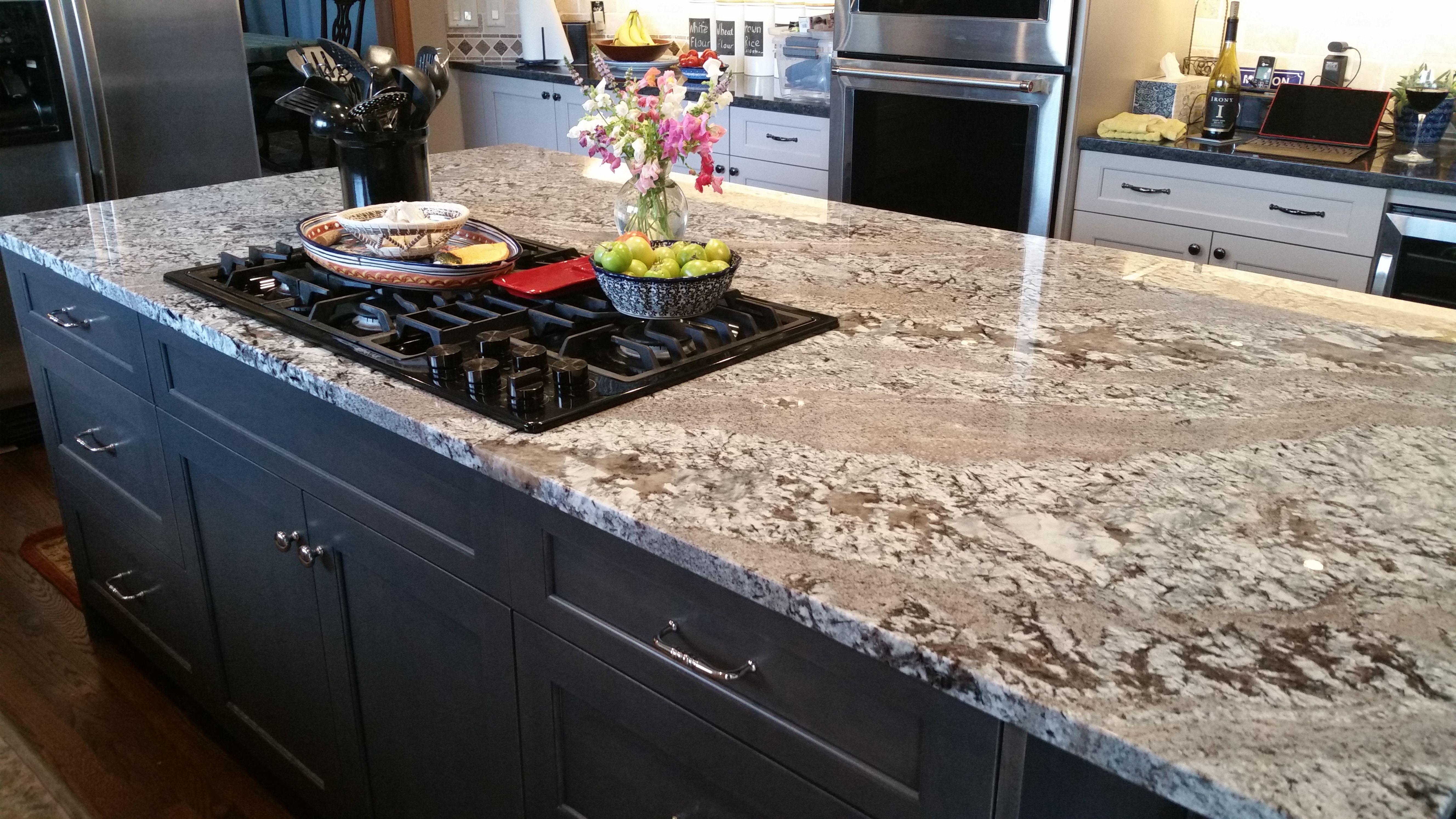 Lennon Aka New Azul Aran Granite Kitchen Island Countertop