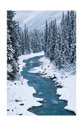 Giclee Print: Bend in the North Saskatchewan by Michael Blanchette Photography : 36x24in