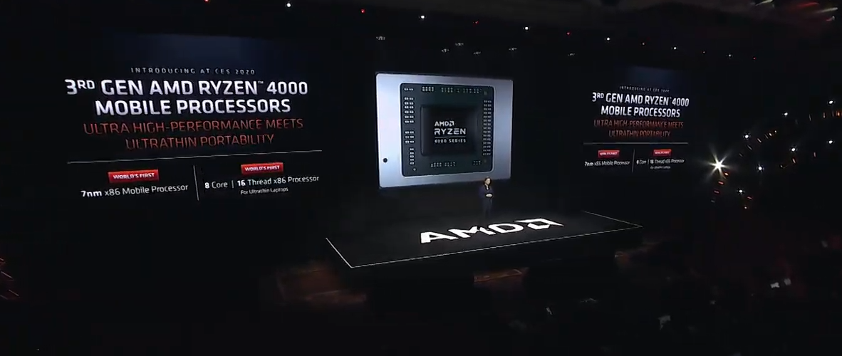 AMD Announces 4000 Series Mobile Processors in 2020 Amd