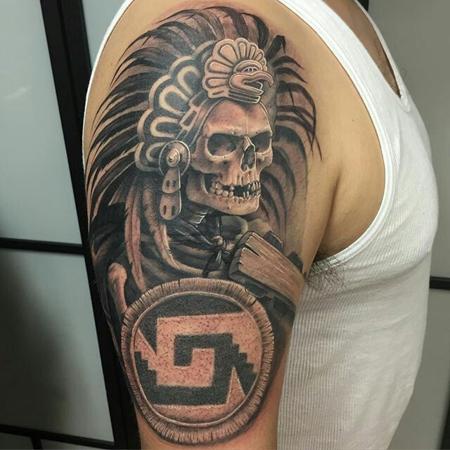Pin by jose mejia on el nagual pinterest aztec tattoo for Italian warrior tattoos