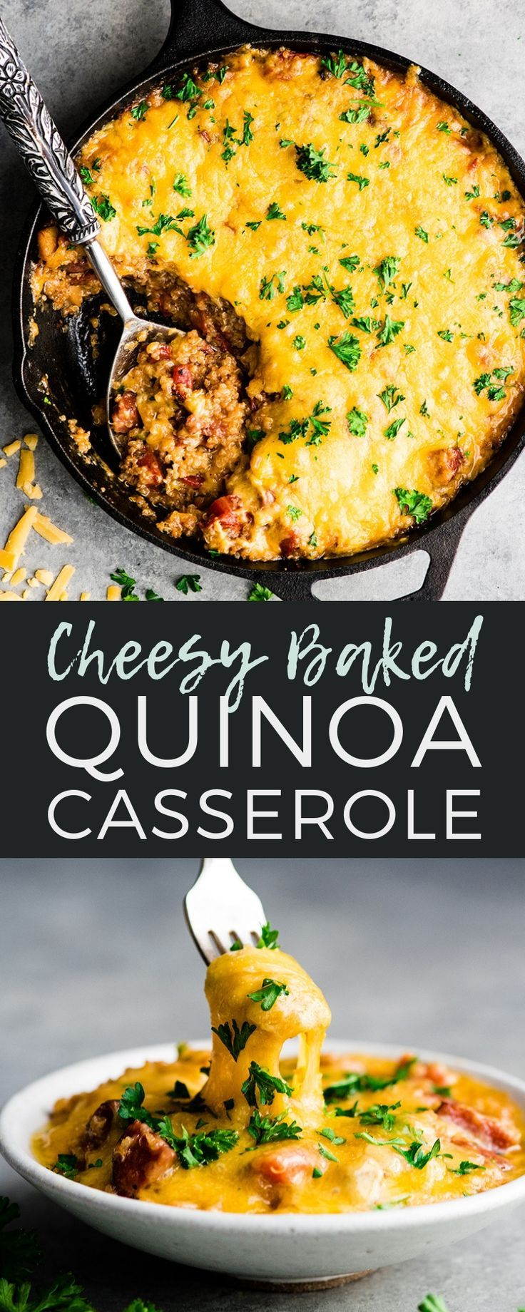 Photo of This Baked Quinoa Casserole is an easy, hearty main dish that is perfect for fal…