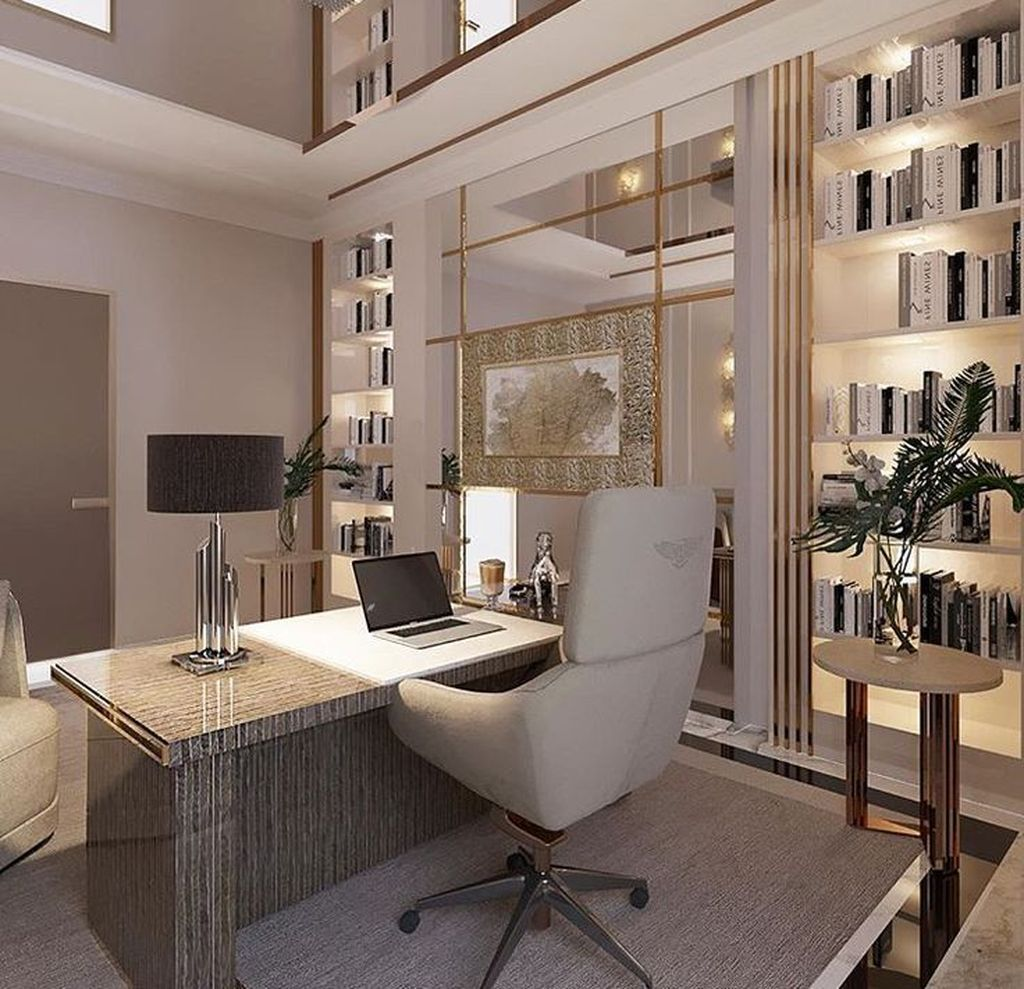 30 Admirable Modern Home Office Design Ideas That You Like Pimphomee Modern Home Office Modern Office Interiors Home Office Design
