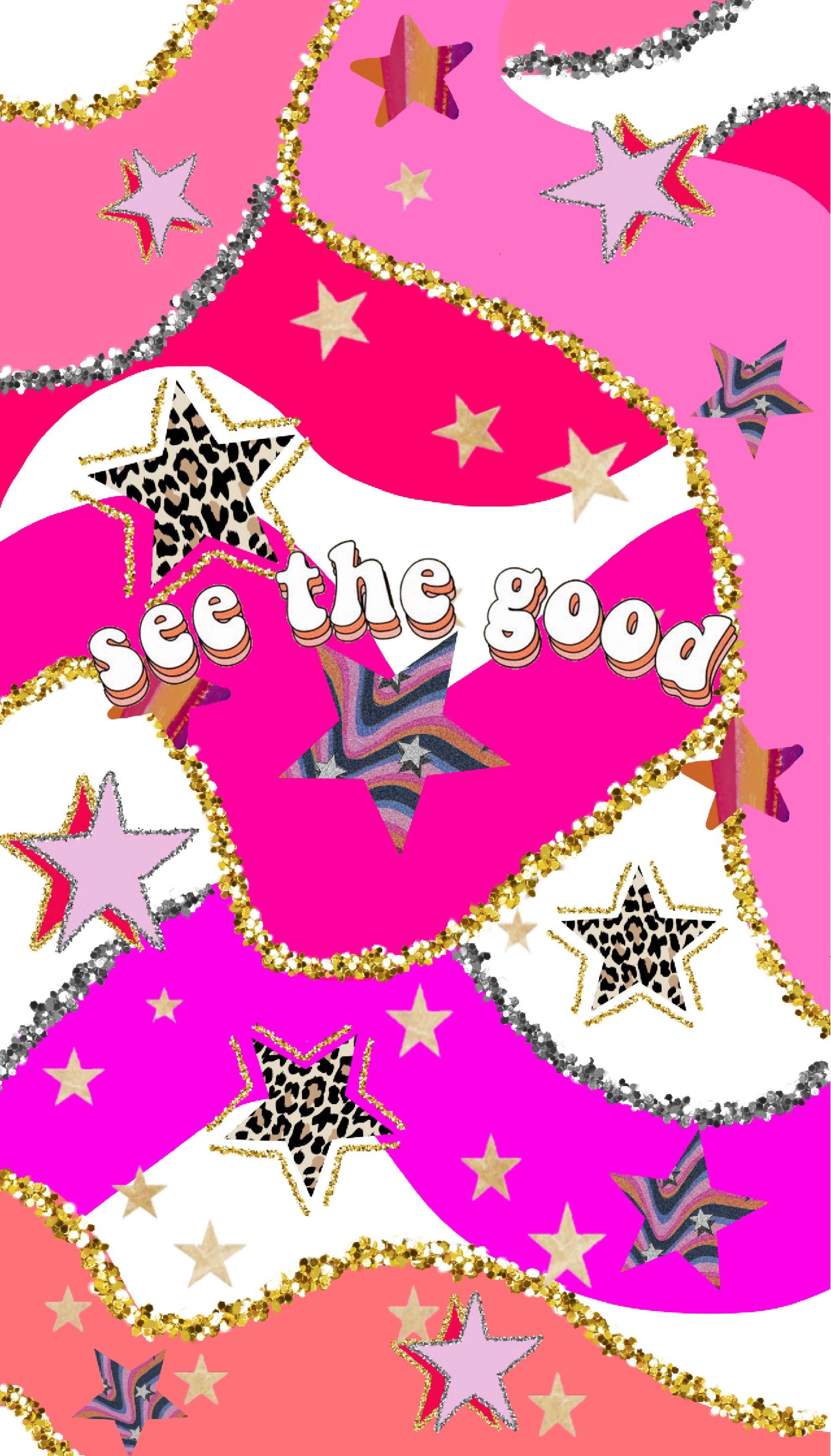 Vsco Pink Wallpaper Stars And Glitter Preppy Wallpaper Iphone Wallpaper Vsco Wallpaper Iphone Cute