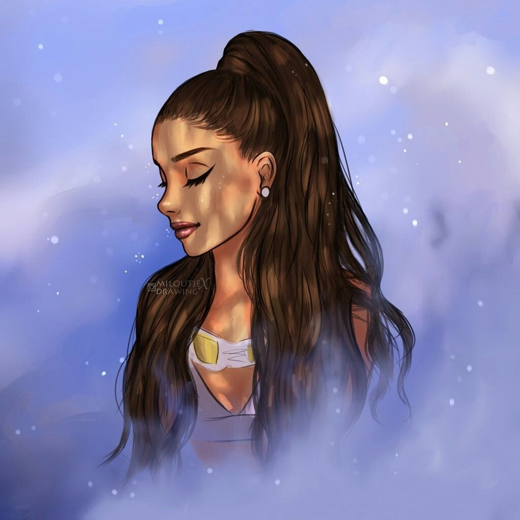 Ariana Grande standing in the pure moonlight. This is
