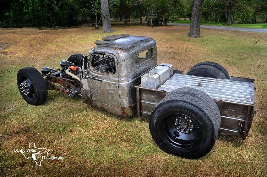 awesome open wheel raw steel rat rod pickup dually with ...