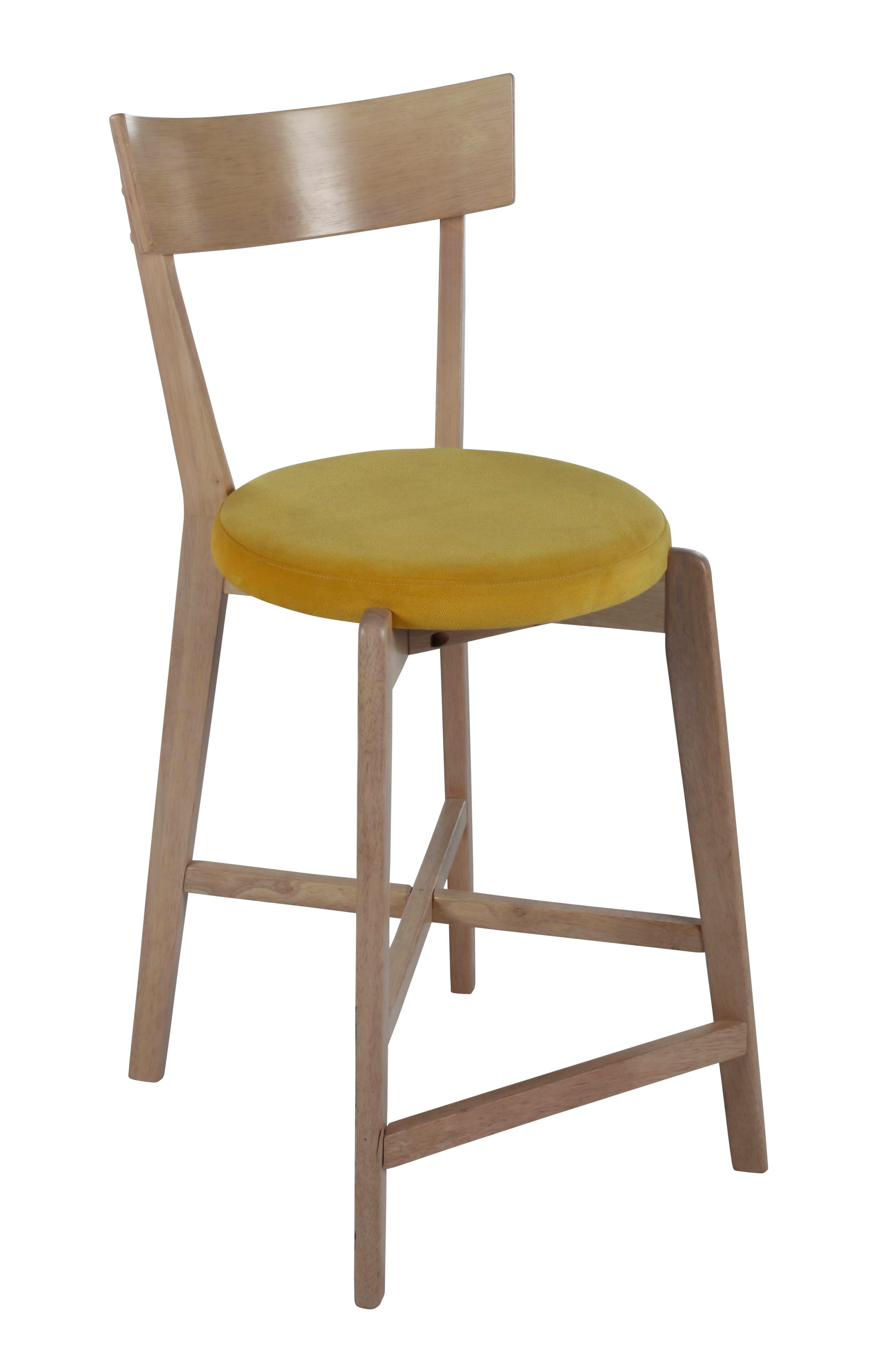 tabouret de bar cm lena jaune hello yellow bar. Black Bedroom Furniture Sets. Home Design Ideas