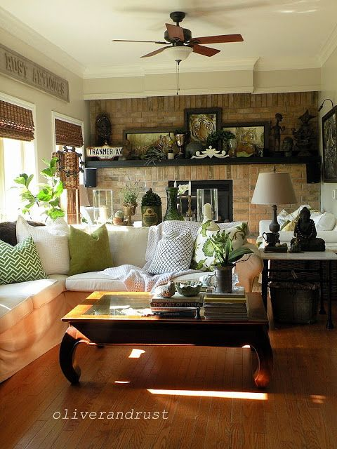 charming eclectic living room ideas. Green And White + Neurtals Charming Eclectic Vintage Living Room ~ Cottage Beach Bungalow Ideas S