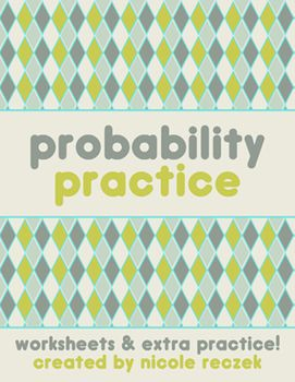 probability practice freebie probability carnival pinterest math classroom math and math. Black Bedroom Furniture Sets. Home Design Ideas