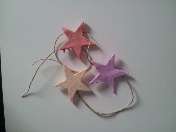 Mini ghirlanda tre stelle toni rosa di IsognidiSimo su Etsy