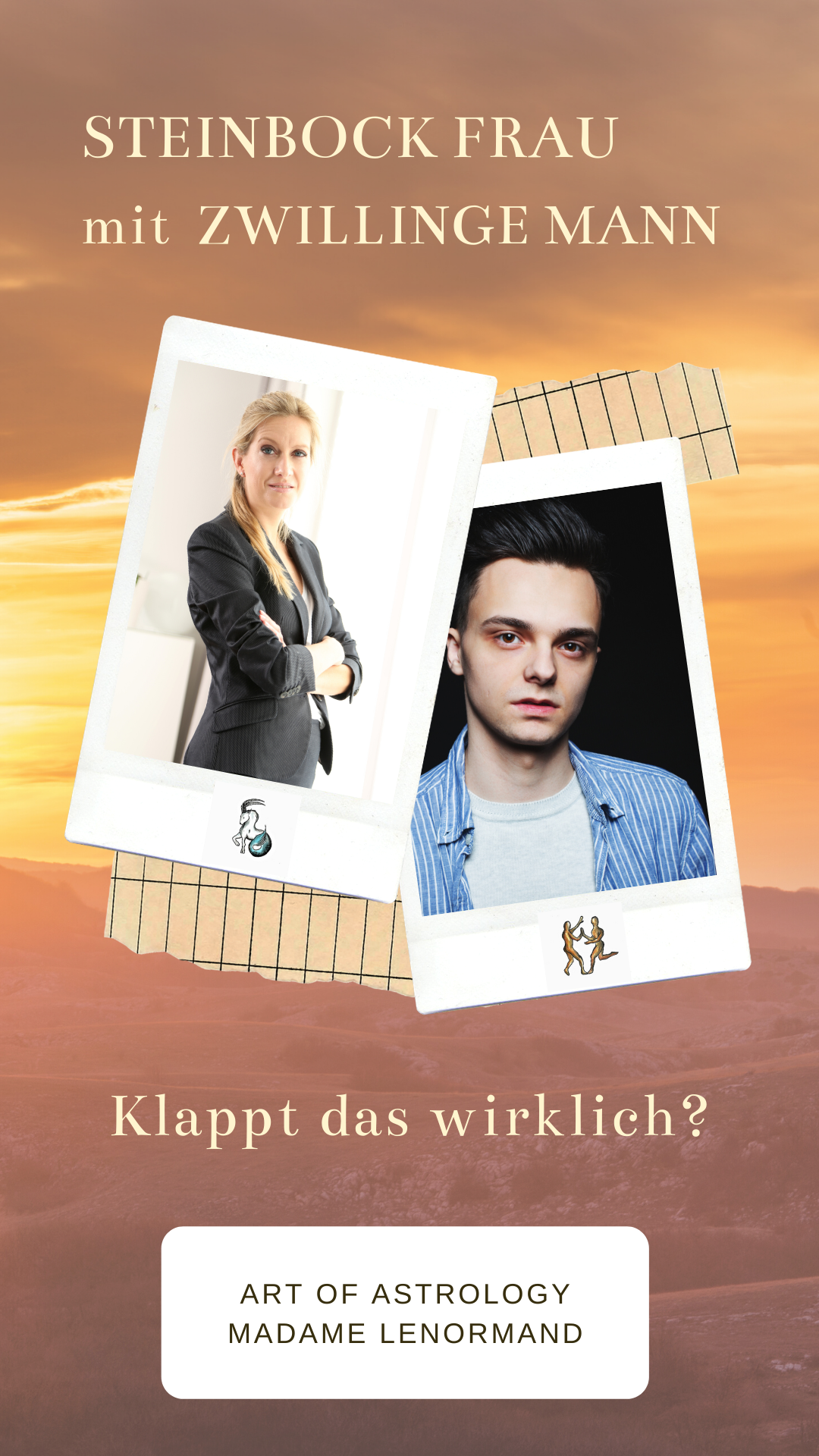 Zwillinge-Mann & Steinbock-Frau   Zwilling mann, Steinbock